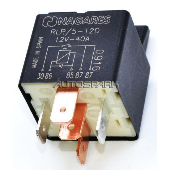 NAGARES MRS//12-20 12V 22A 4 PIN CHANGE OVER MICRO RELAY WITH RESISTOR